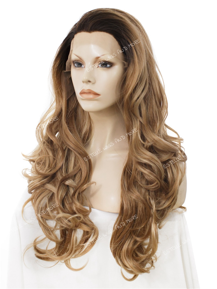 Natural Hair Line Blonde Synthetic Lacefront Wigs