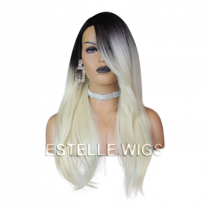 DRAYA-Long Straight Layered Multi Part Premium Synthetic Wig