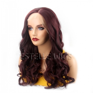 CHANTELLE-Deep Burgundy Wavy Lace Front Wig