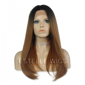 VIVICA-Long Bob  4*4 Swiss Lace Front Wig