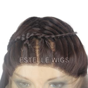 HARPER-Brunette French Braided Long Straight Lace Front Wig