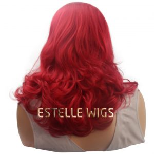 IVY-Red Medium Length |Wavy Lace Front Wig