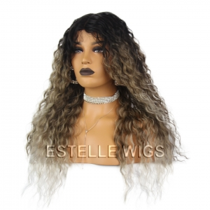 ATTY-Middle Part Long Layered Curly Lace Part Wig Spotlight By Sleek