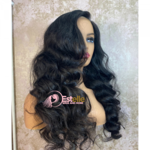 22″ Luxury Raw Human Hair Lace Front Wig