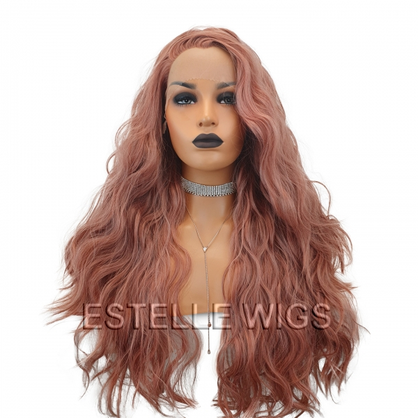 peach lace front wig