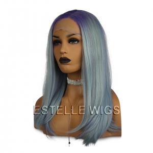 ANIKA-Purple Mint Mix Mid Length Side Part Lace Front Wig