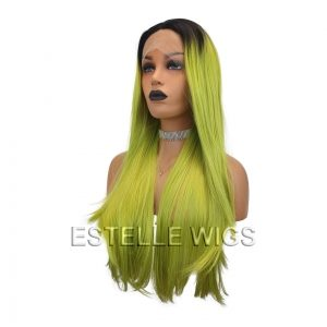 steph neon green wig