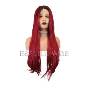 red long wig