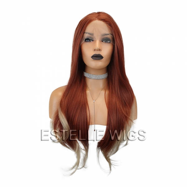 copper/blonde lace front wig
