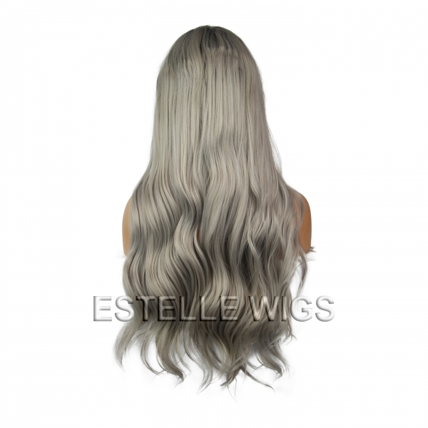 luci-grey lace front wig