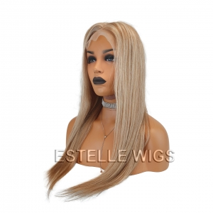 CHARLOTTE -Mixed Blonde Brazilian 100% Human Hair Lace Front Wig