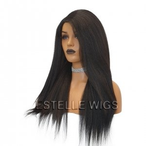 SIMI-Blowout Texture Long Straight Lace Part Wig