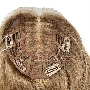 Caramel Blonde Lace Front Silk Top Weft Top Piece