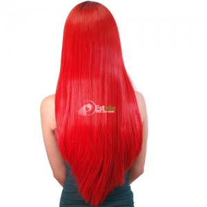 QUINN- Black/ Red  Long Straight Full Lace Wig
