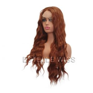 ZOFIA-Loose Wave long Copper Brown  Lace Front Wig