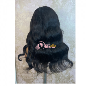 18″ Luxury Raw Human Hair Lace Front Wigs