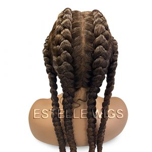 EDEN – Mixed Brown Braided Lace Front Wig
