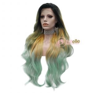 PH12-Wavy Lace Front Synthetic Wig